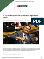 A segunda vitória de Bolsonaro_ egoísmo e morte – Repórter Nordeste