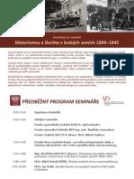 Motorismus a šlechta - předběžný program