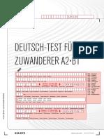DTZ Modelltest Personenbögen + Antwortbögen