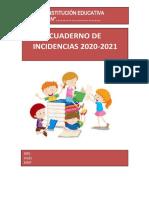 Cuaderno de Incidencias 2021 Aprendo en Casa