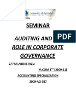 Auditing and Its Role in Corporate Governance