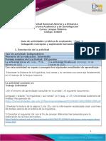 Guía de Actividades y Rúbrica de Evaluación - Unidad 1 - Paso 2 - Indagando Conceptos y Explorando Herramientas.