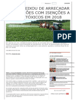 Brasil deixou de arrecadar R$ 2 bilhões com isenções a agrotóxicos em 2018 _ Brasil 247