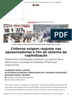 Diálogos do Sul_ Chilenos exigem reajuste nas aposentadorias e fim do sistema de capitalização