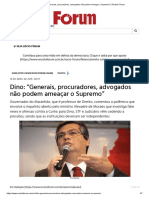 Dino_ _Generais, procuradores, advogados não podem ameaçar o Supremo_ _ Revista Fórum
