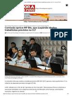 Comissão aprova MP 881, que suspende direitos trabalhistas previstos na CLT – Hora do Povo