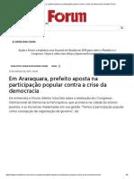 Em Araraquara, prefeito aposta na participação popular contra a crise da democracia _ Revista Fórum