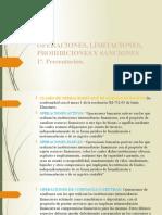 operaciones, limitaciones, prohibiciones y sanciones
