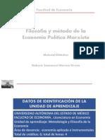 FILOSOFIA Y METODO DE LA ECONOMIA MARXISTA