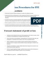Procedures for PFI by Alan Biju Palak ACCA