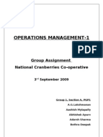 OM-I Assignment- Group 1- Section A- National Cranberry Cooperative