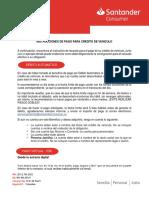 Instructivo de Pago Banco Santander