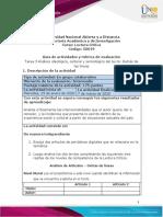 Guía de actividades y rúbrica de evaluación - Unidad 2 - Tarea 3 - Análisis ideológico, cultural y semiológico del texto Detrás de las líneas