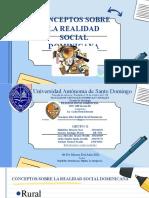 DIAPOSITIVA EXPOSICION GRUPO G Conceptos Sobre Realidad Social Dominicana