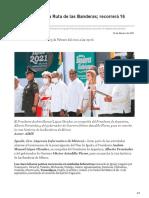 25-02-2021 Arranca en Iguala Ruta de las Banderas recorrerá 16 estados del país