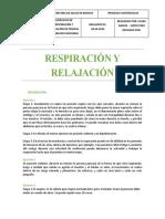 """EJERCICIOS DE RELAJACIÓN Y RESPIRACI""""N"""