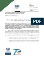 INFORME DE LAS ACTIVIDADES DEL GRUPO DE COORDINACIÓN ESTADÍSTICA PARA LA AGENDA 2030 EN AMÉRICA LATINA Y EL CARIBE- NOVIEMBRE 2019