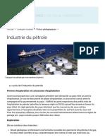 L'industrie du pétrole _ acteurs, compagnies pétrolières, exploration