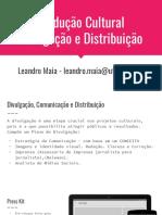 Divulgação, Comunicação e Distribuição