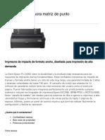 FX-2190II Impresora matriz de punto _ Matriciales _ Impresoras _ Para el trabajo _ Epson Colombia