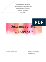 Identificar los tipos de sintagmas con su sigla correspondiente Ingles