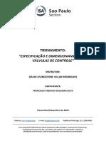 Apostila - Treinamento Especificação e Dimensionamento de Válvula de Controle - Francisco Fabiano Nogueira Silva