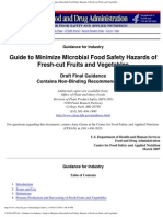 Guide to Minimize Microbial Food Safety Hazards Of