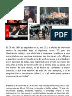 VIOLENCIA Y RESISTENCIA A LA AUTORIDAD