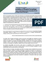 Appel à communication -Energies Renouvelables et Efficacité Energétique-