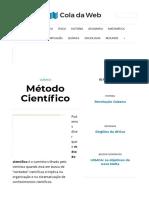 Método Científico_ Conceito, Etapas e Exemplos - Cola da Web