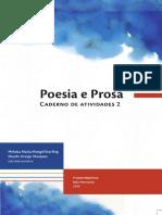 Poesia e Prosa Caderno de Atividades 2 r