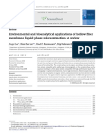 Environmental and bioanalytical applications of hollow fiber