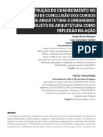 A CONSTRUÇÃO DO CONHECIMENTO NO TRABALHO DE CONCLUSÃO DE CURSOS DE ARQ E URB