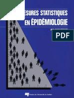Paul-Marie Bernard, Claude Lapointe-Mesures Statistiques en Épidémiologie-Presses de l'Université Du Québec (1998)