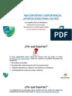 RAZONES PARA EXPORTAR E IMPORTANCIA DE LAS EXPORTACIONES
