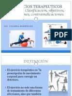 Ejercicios Terapeuticos I introduccion y ejercicios activos