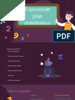 exposicion plan matematico  grupo 1