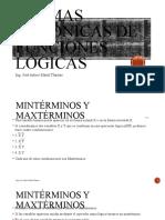 FORMAS CANÓNICAS DE FUNCIONES LÓGICAS
