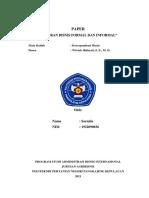 33. SARMILA - 1922090036 - Paper (Laporan Bisnis Formal Dan Informal)