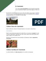 Cultura Maya de Guatemala