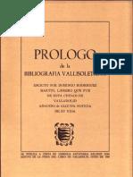 Prologo Bibliografia Vallisoletana de Domingo Rodriguez