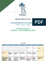 Calendario Ciclo Escolar 2019 - 2020-GENERAL
