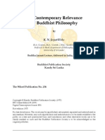 The Contemporary Relevance of Buddhist Philosophy