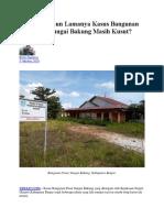 Empat Tahun Lamanya Kasus Bangunan Pasar Sungai Bakung Masih Kusut