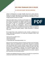 JACK KORNFIELD - INSTRUCCIONES PARA TRABAJAR CON EL DOLOR