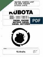 Kubota v2003 каталог запчастей