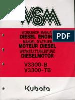 Kubota v3300 руководство по обслуживанию