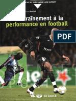 De l'Entrainement a La Performannce en Football