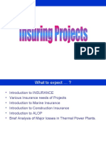 Insuring Projects - RajaSekhar