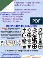 Religión de los continentes